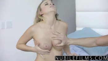 Hunk is getting his hard strapon sucked by girl
